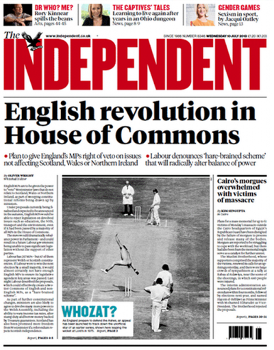 The Independent - dated 10th July, 2013.